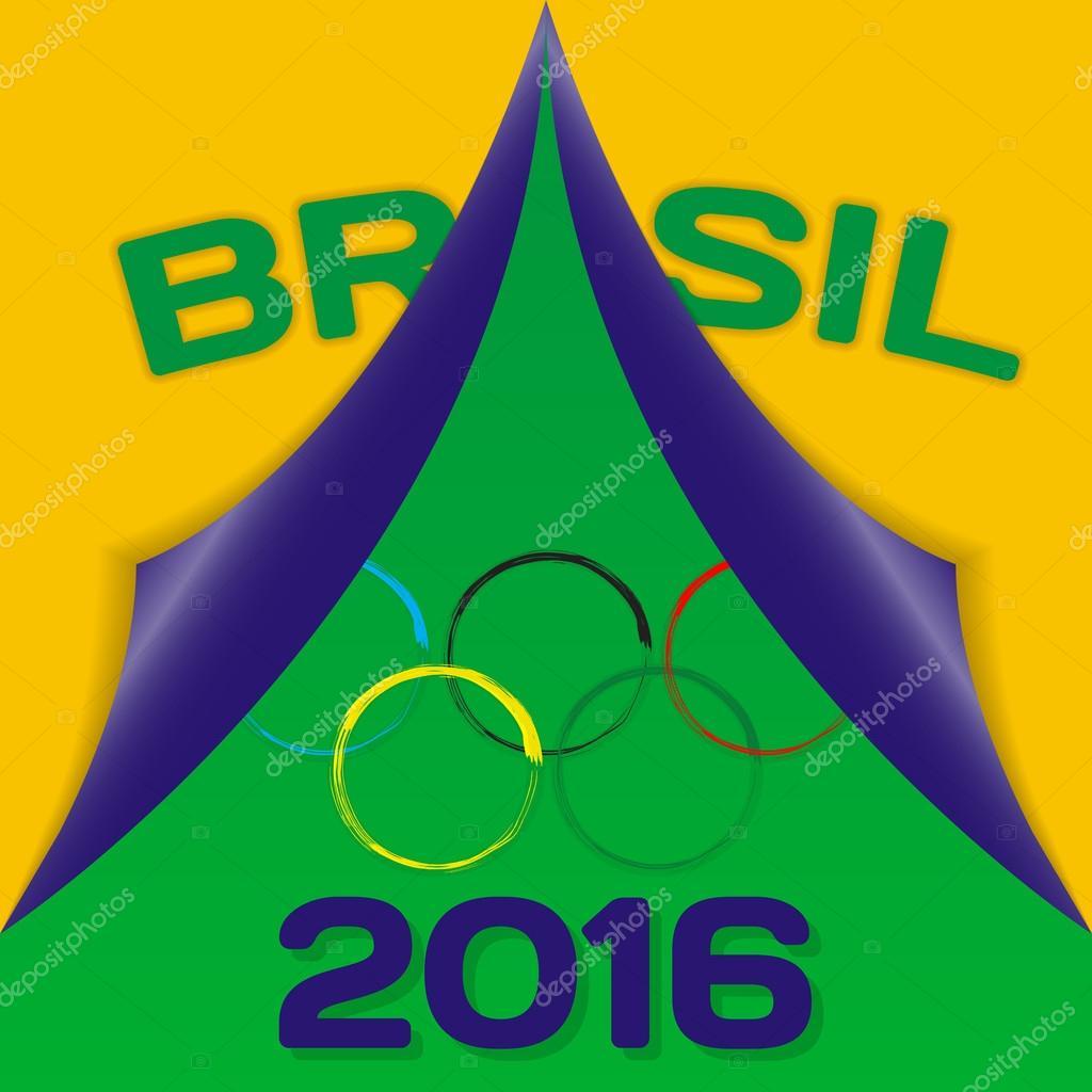 farben der flagge brasilien und zeichen der olympischen. Black Bedroom Furniture Sets. Home Design Ideas