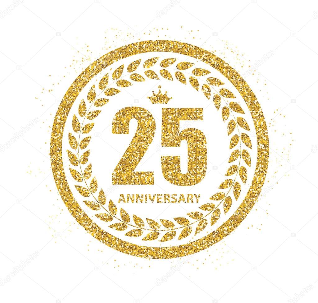 Vorlage Logo 25 Jahre Jubiläum-Vektor-Illustration — Stockvektor ...