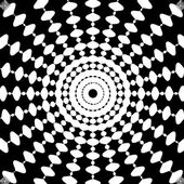 Fotografie Schwarz-weiß abstrakte psychedelische Kunst Hintergrund. Vektor-Illusion