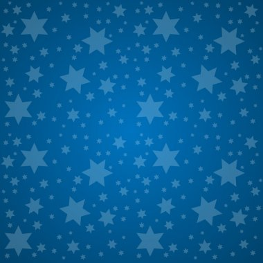 Starry Sky. Good Night Concept Vector Illustration.