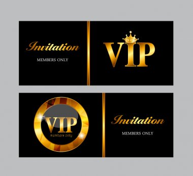 VIP Members Card Vector Illustration EPS10 stock vector