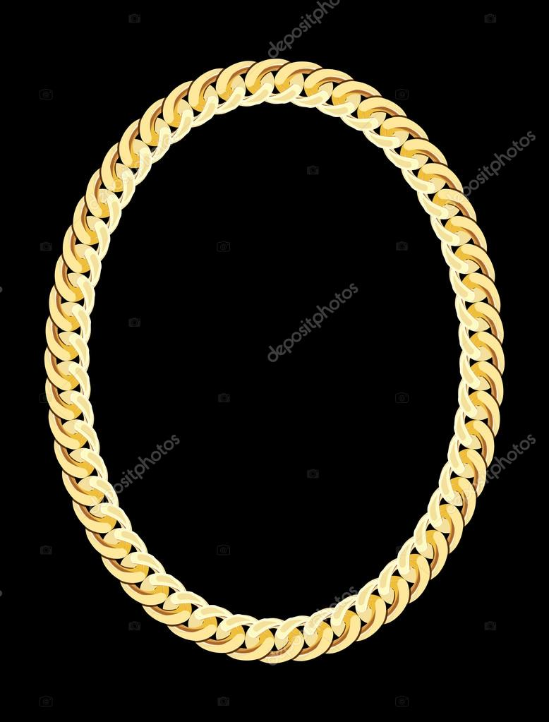 Gold Chain Jewelry. Vector Illustration