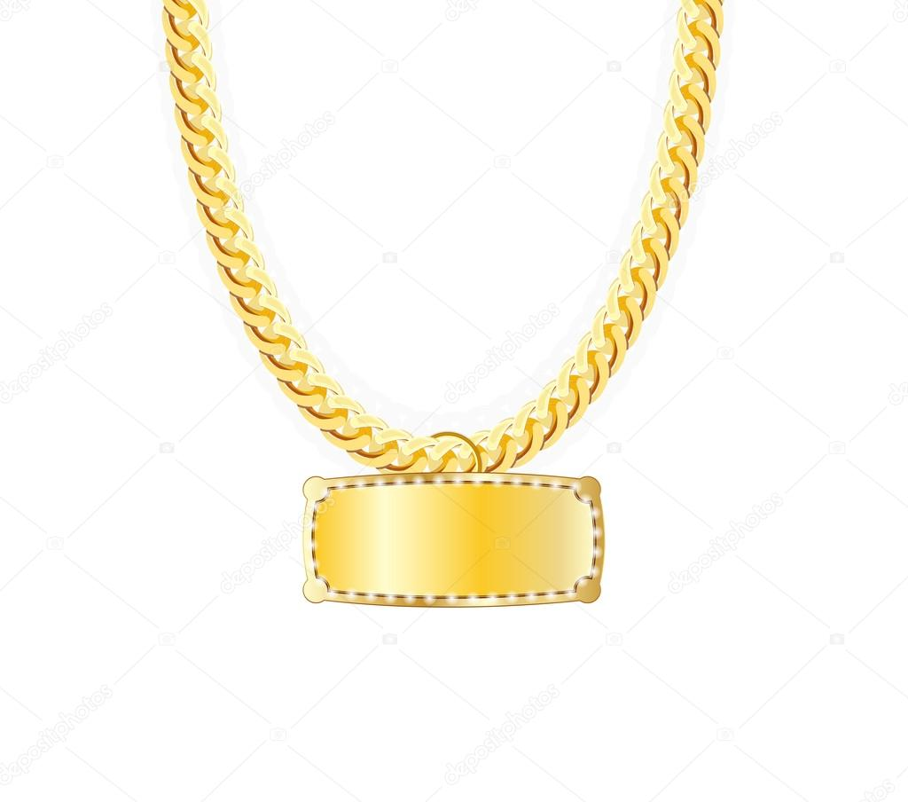 Latest Gold Chain Designs For Ladies With Price Gold Chain Jewelry Whith Gold Pendants Vector Illustration Stock Vector C Oleggankod 77675794