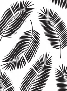Palm Leaf Vector Frame Background Illustration