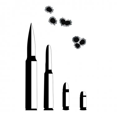 Bullet. Weapons Isolated on White Background. Vector Illustration. EPS10 stock vector