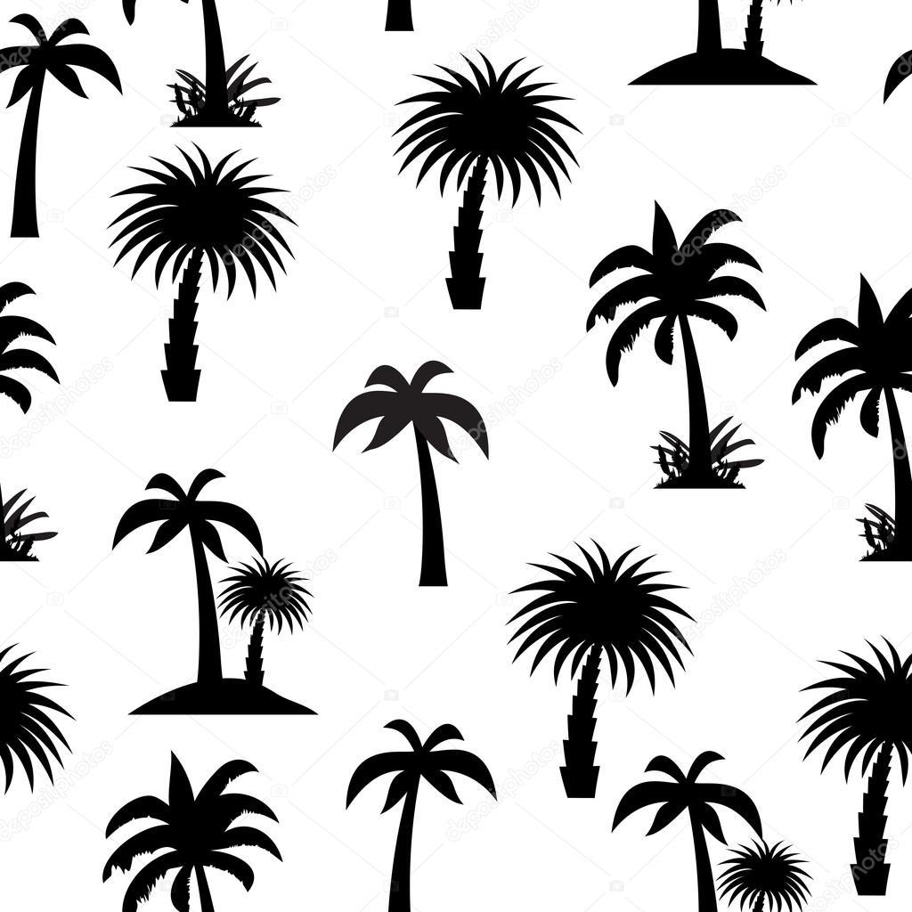 ヤシの木のシームレスなパターン ベクトル イラスト ストックベクター