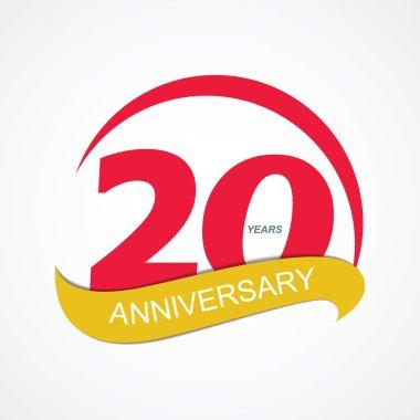 Template Logo 20 Anniversary Vector Illustration