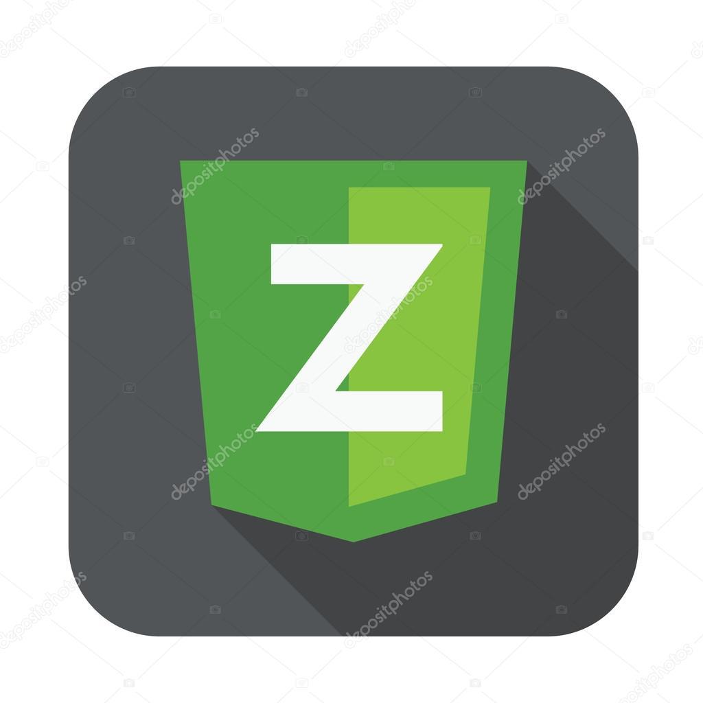 Raster Runde Symbol Z Brief für Zend framework — Stockvektor ...