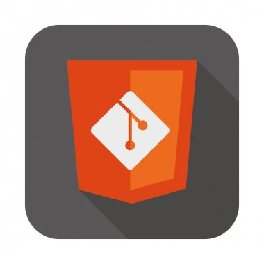 vector illustration web development shield sign showing programming process icon version control system
