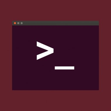 Terminal startup icon, direct access to system via command line - illustration