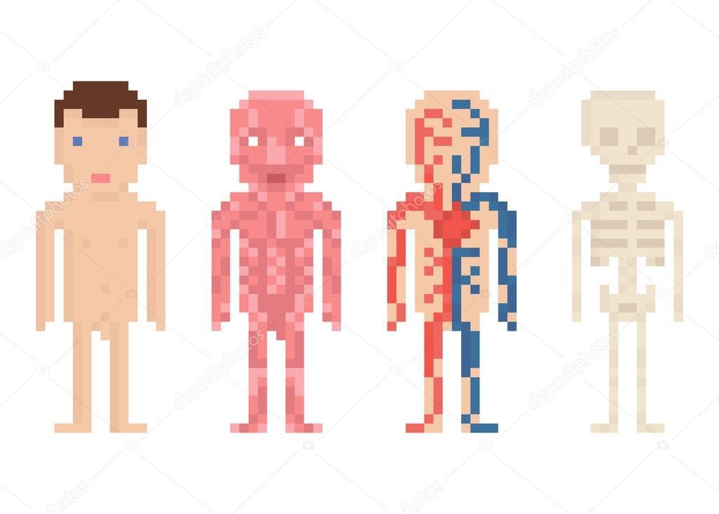 pixel art humain