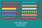 pixel umění hry rozvoj set - indikátor průběhu, načítání, body zdraví, mana, munice