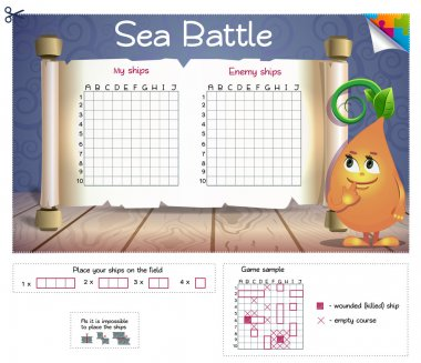 Sea Battle! Board game.