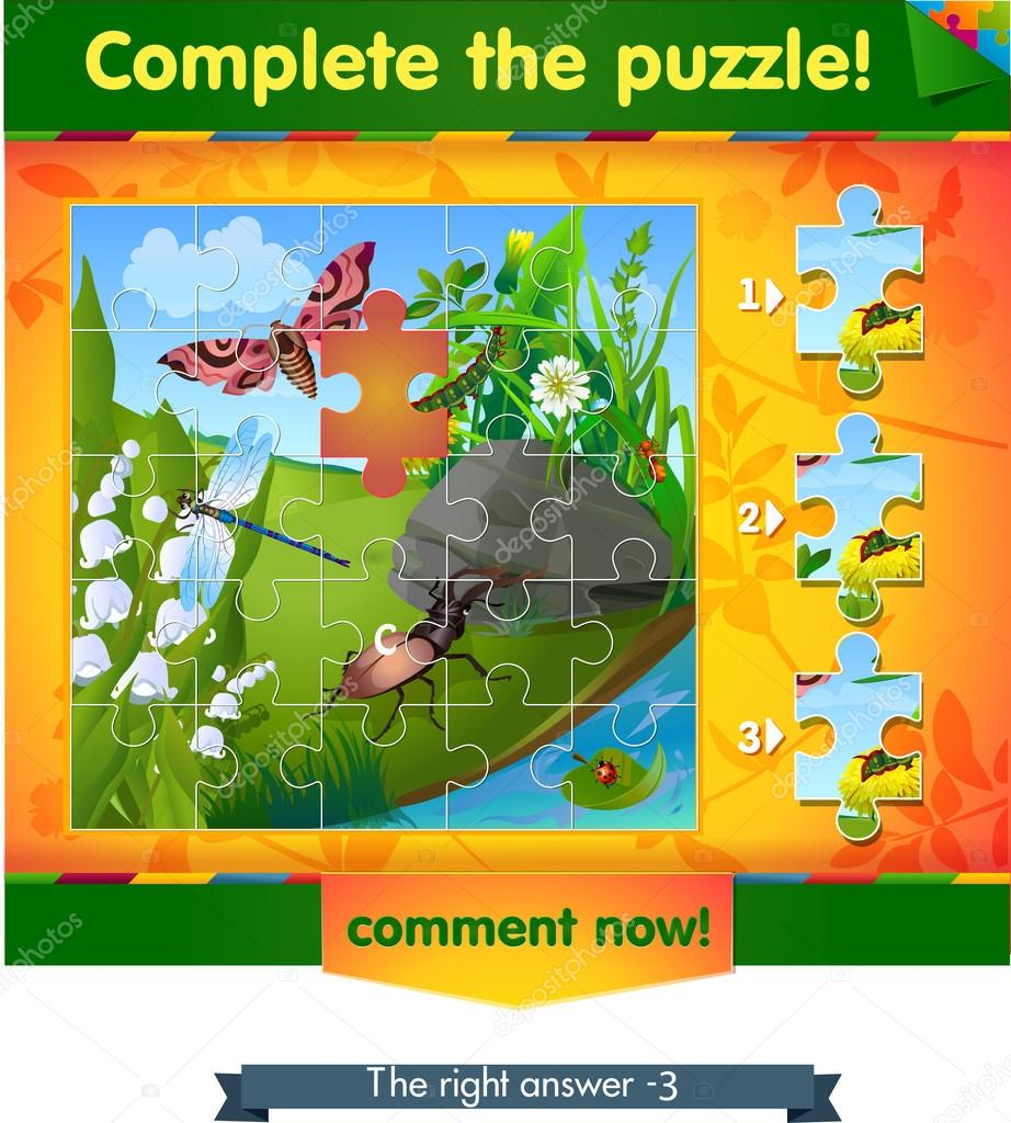 complete the puzzle insects 4