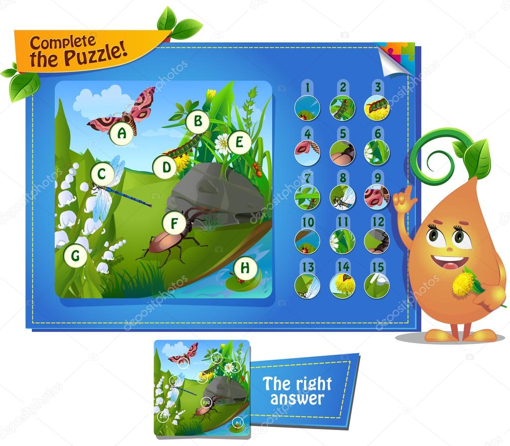 complete the puzzle insects 5