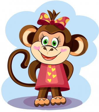 Cute Monkey Girl