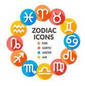 Flat trendy zodiac symbols 2