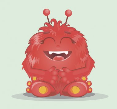 Good red furry monsters  2