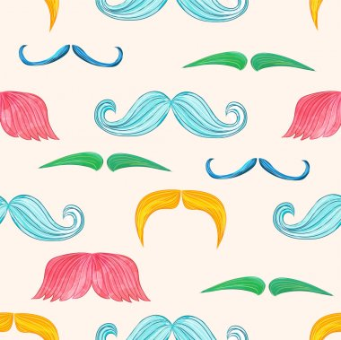 Mustache seamless  in vintage style