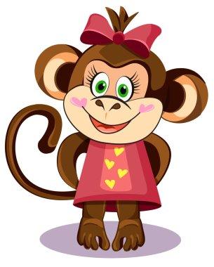 monkey hero girl in a dress