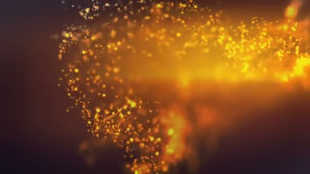 Absztrakció a sötét sárga részecskék Purple csillogó