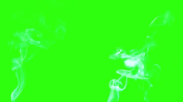 billowing smoke on green screen