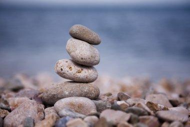 zen like balance stones