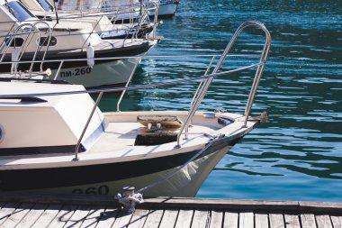 yacht in bay