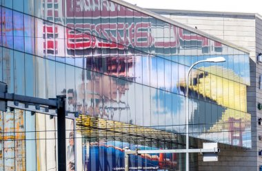 Pixels and Mission Impossible - Rogue Nation movies billboards 1