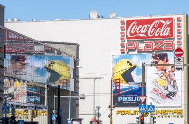 Pixels and Mission Impossible - Rogue Nation movies billboards 2