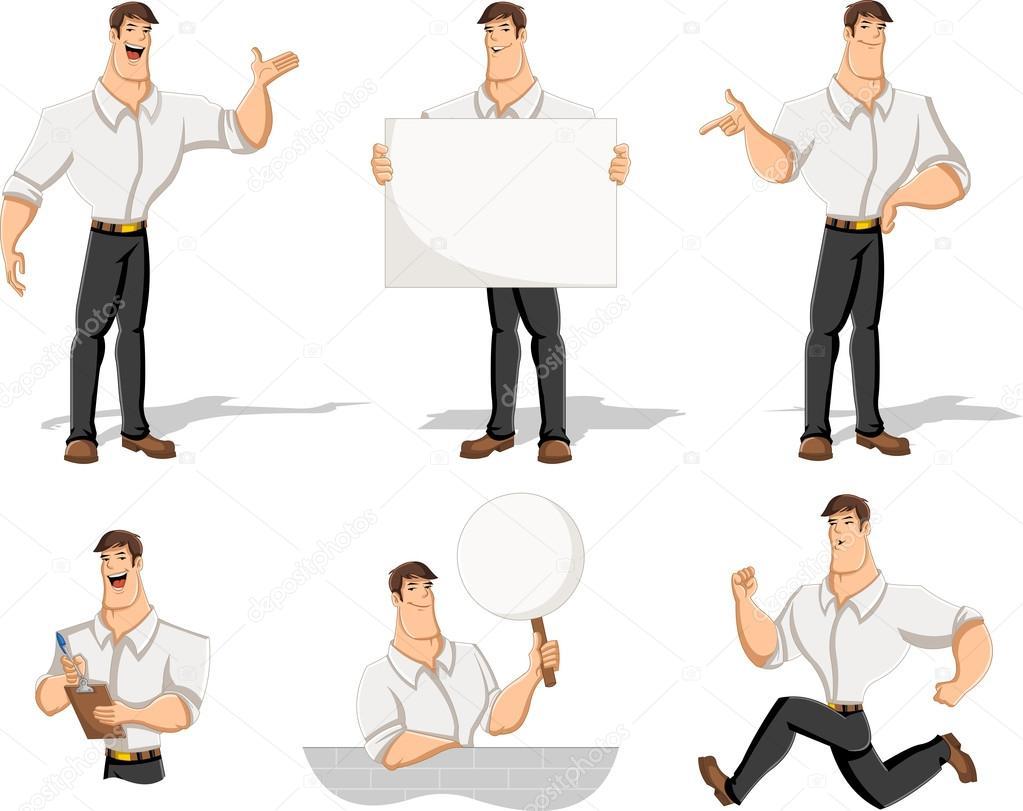 Que Diferentes En Llevaba Dibujos Hombre Camisa Animados De Blanca wFtqSnTxUC