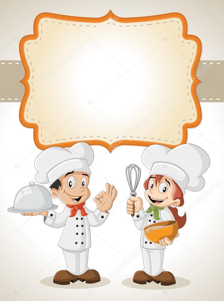 Chefs de dibujos animados de cocina vector de stock deniscristo 110826942 - Dibujos de cocina ...