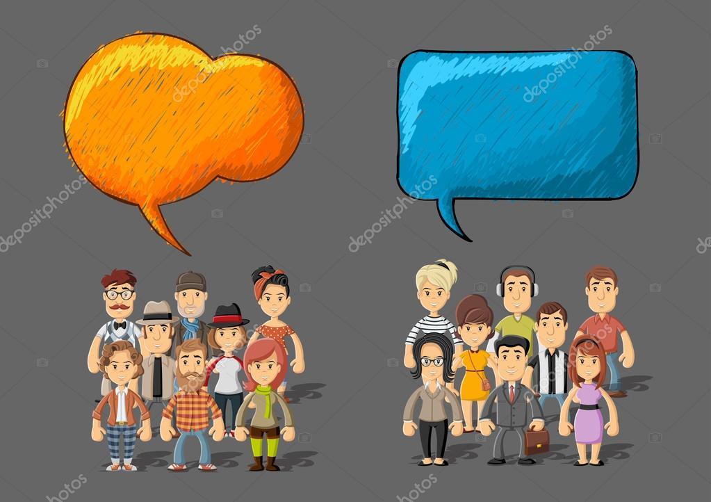 Dibujos: Grupos De Personas
