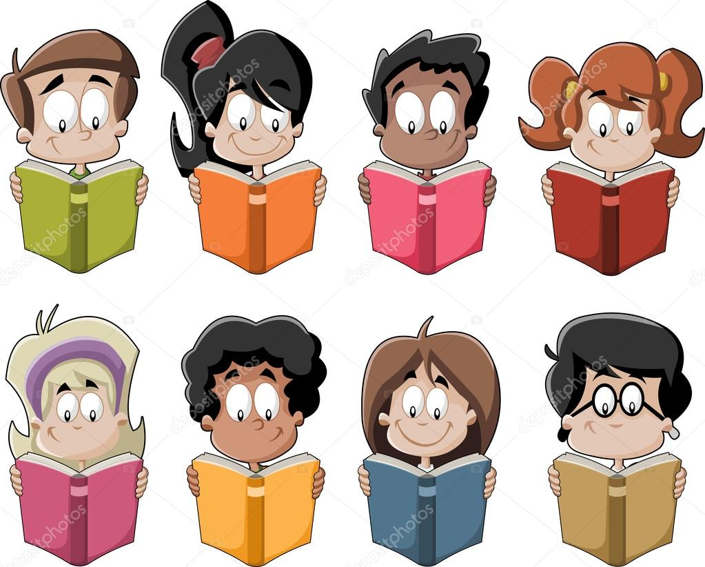 Imágenes: Estudiantes Leyendo Animados