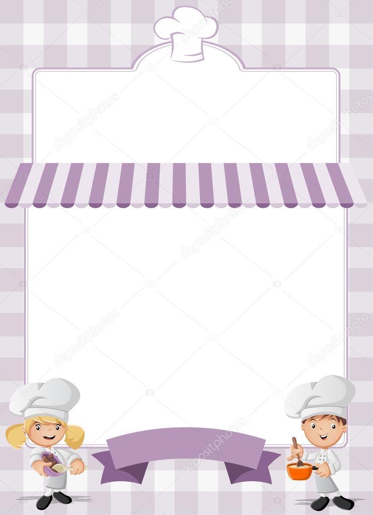 chefs de dibujos animados de cocina — Vector de stock © deniscristo ...