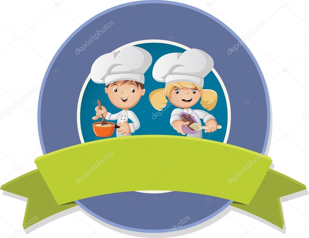 Vector banners y etiquetas fondos con dibujos animados chef cocina comida archivo im genes - Dibujos de cocina ...