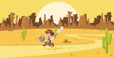 Cartoon cowboy kid