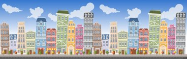 Big colorful city landscape