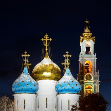 Panorama of the Assumption Cathedral and the bell tower of the
