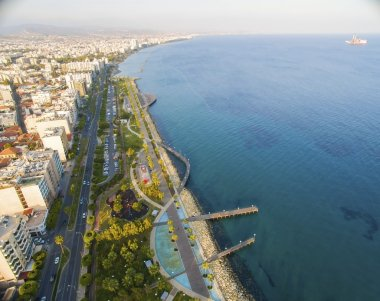 Aerial view of Molos, Limassol, Cyprus