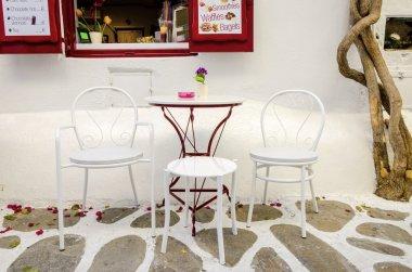 Mykonos cafe, Greece