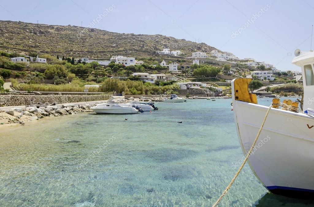 Spiaggia di ornos mykonos grecia foto stock for 3 piani di design da spiaggia