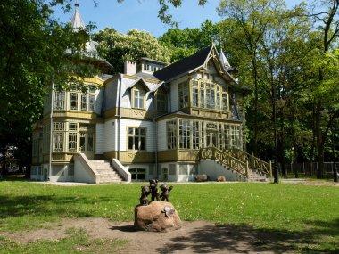 Old villa and bears.