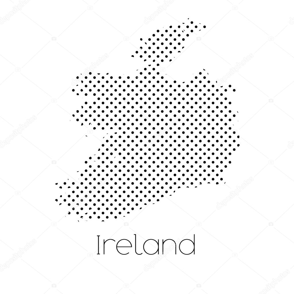 Country Map Of Ireland.Map Country Ireland Stock Vector C Paulstringer 100298798