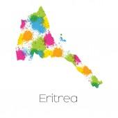 Mapa země Eritrea