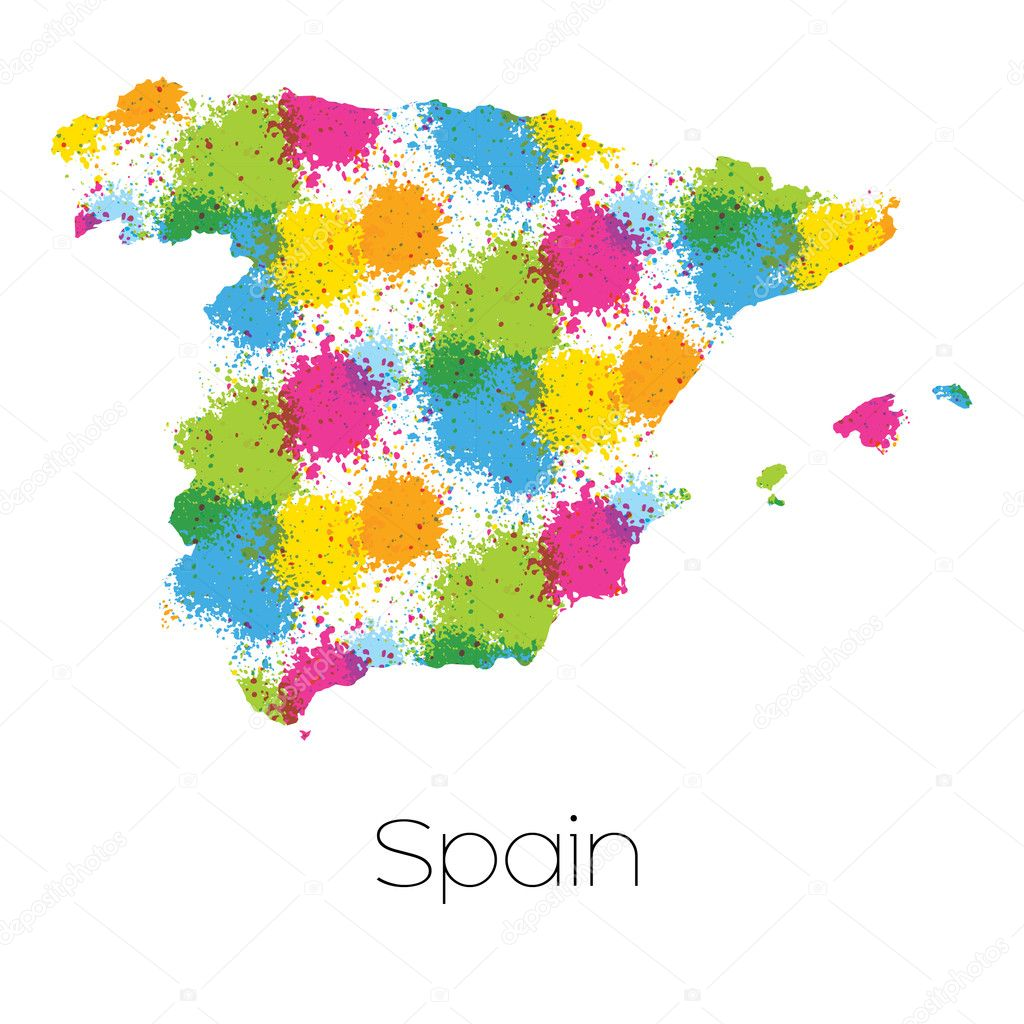 Country Of Spain Map.Map Country Spain Stock Photo C Paulstringer 101901358