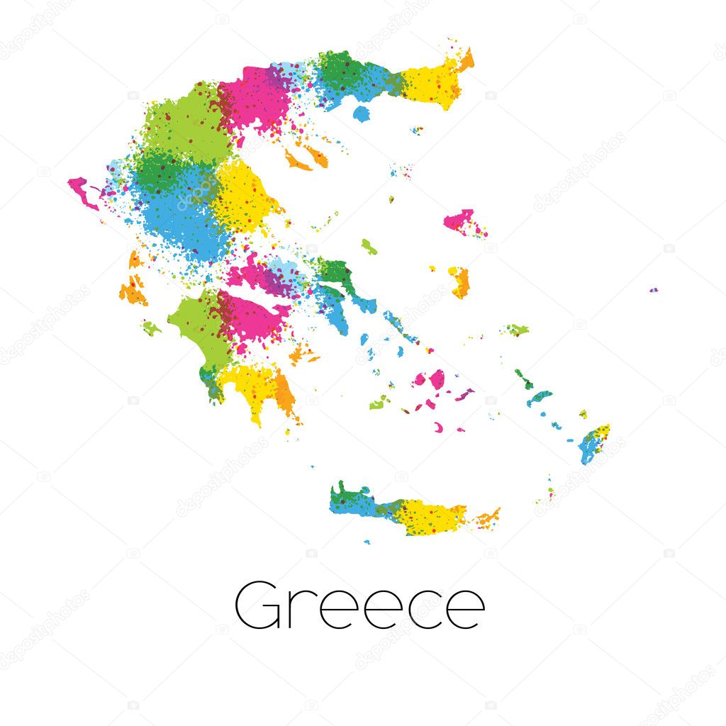 Country Of Greece Map.Map Country Greece Stock Photo C Paulstringer 101902882