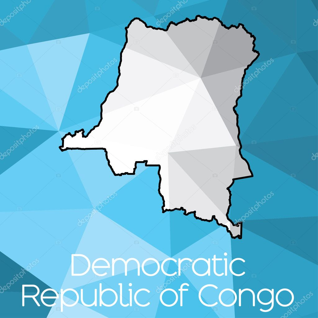 Map Country Democratic Republic Congo — Stock Photo ...