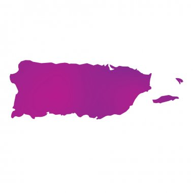 Map of the country of Puerto Rico
