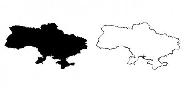 Map of the country of Ukraine